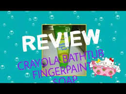 crayola bathtub fingerpaint soap review