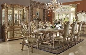 vendome gold formal dining table set vendome gold patina traditional style formal dining table set vendome