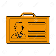 Work Identity Card Work Id Card Icon Image Vector Illustration Design One Color