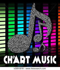 Music Chart Show Music Charts Shows Sound Tracks And Harmonies Clip Art