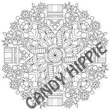 Humbug Christmas Mandala Scrooge And Grinch Coloring Page