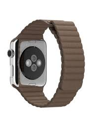 apple apple watch leather loop magnetic closure band 42 44mm l light brown