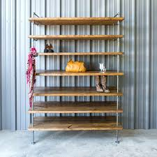 Industrial Style Pipe Closet Shelving Unit Uk Plumbing Shelves Home Depot.