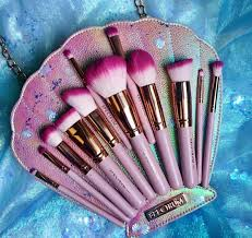 spectrum brushes. this seashell brush set is perfect for all of us mermaid makeup queens spectrum brushes