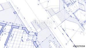 architecture design blueprint. Architecture Design: Blueprint Plan - Illustration Of A Modern Residential Building / Technology, Design
