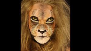 lion face paint tutorial time lapse illusion
