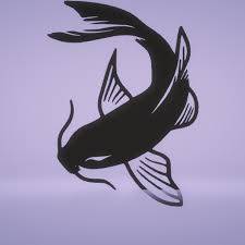 stl file wall decor koi fish