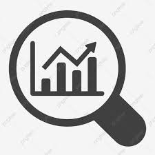 Cartoon Magnifying Glass Icon Chart Office Magnifying