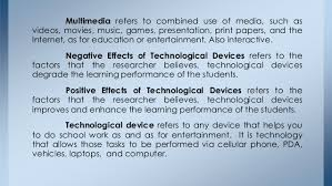 effects of technological device to students 12