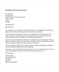 Cover Letter Examples For Part Time Jobs 8 Part Time Job Cover