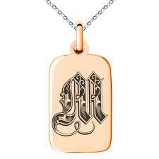 pendant stainless steel initial royal