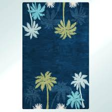 palm tree rugs round accent design