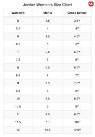 Grade School Shoe Conversion Chart