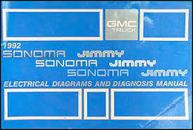 gmc s jimmy and sonoma wiring diagram manual original