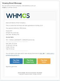 Email Buttons Invoice Email Payment Buttons Whmcs Marketplace