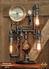 Antique industrial lighting fixtures Bedroom Steampunk Industrial Antique 7 Jamminonhaightcom Machine Age Lamps