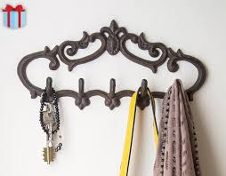 cast iron wall hanger vintage design with 5 hooks keys wall mounted vintage decorative gift idea with s and anchors by comfify