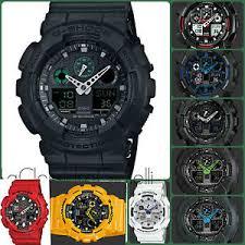 watch men 039 s casio g shock ga 100 series military camo 24 image is loading watch men 039 s casio g shock ga