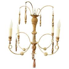 italian four arm spider chandelier constructed of 18th century and later parts for