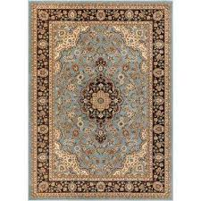 barclay medallion kashan light blue 9 ft x 13 ft traditional area rug