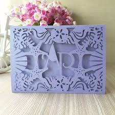 100pcs lotnew arrival laser cut paper cards with sea star s decoration for wedding invitation card can be custom initinals in cards invitations from