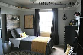 boys bedroom. DIY Bigger Boy Room, Yellow \u0026 Gray, By Chic On A Shoestring Decorating Boys Bedroom