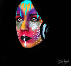 the crazy cool neon makeup transformation you have to see don t adjust your puter screen these makeup looks are just as psychedelic as they appear