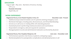 Attractive Resume For New Grad Nurse With No Experience Crest