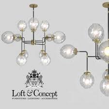 chandelier bistro globe clear glass chandelier 12