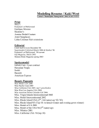 Professional Model Resume A Good Resume Example