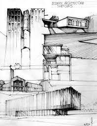 modern architectural drawings. Wonderful Architectural Modern Architecture Sketching And Architectural Drawings B