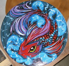 Koi Fish - Vinyl Painting by DeathEcho ...