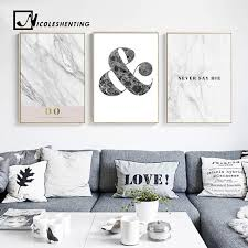 motivational quote wall art canvas posters and prints marble abstract painting decorative pictures bedroom decoration home on canvas wall art bedroom with motivational quote wall art canvas posters and prints marble