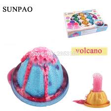 20sets lot diy science toys volcano snow mounn novelty experiment educational toy funny gifts for