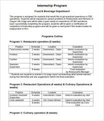 sample internship program twenty hueandi co sample internship program