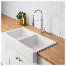 Image Undermount Kitchen Costco Wholesale Apron Front Double Bowl Sink Havsen White