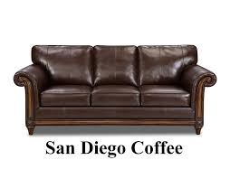 Leather Chairs For Living Room Amazoncom San Diego Coffee Leather Sofa Loveseat Living Room