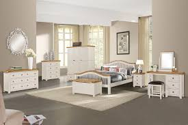 Here Is A Very Attractive Range Of Bedroom Furniture With Oak Tops And  Finished In An