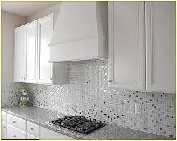 mosaic tiles kitchen ideas glass white tile backsplash