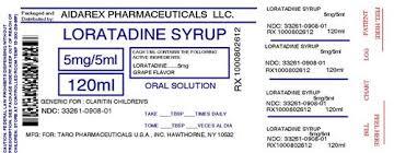 Childrens Loratadine Solution Aidarex Pharmaceuticals Llc