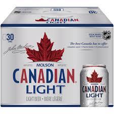 Molson Canadian Light Beer 30 12 Fl Oz Cans Walmart Com