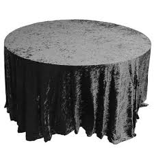crushed velvet table cloths 132 round black