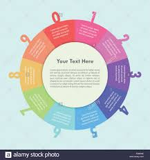 Colorful Circle Infographic Background Design Vector Eps10 Stock