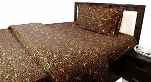 3 pcs flat sheet set leopard print all uk size 100 cotton 600 thread