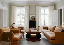 living rooms with leather sofas