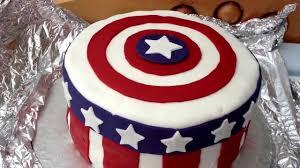 How To Make A Fondant Captain America Birthday Cake The Avengers 1st