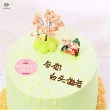 aliexpress com buy 2pcs mini kimono old lovers figure cake