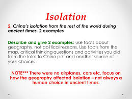 grade social studies informative essay geography of ancient 9 isolation 2