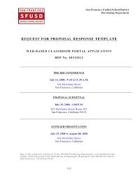 Response To Rfp Sample Classroom Portal Rfp Response Template Doc