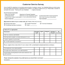 Customer Service Survey Template Free Employee Satisfaction Survey Template Word Sample Questionnaire Free